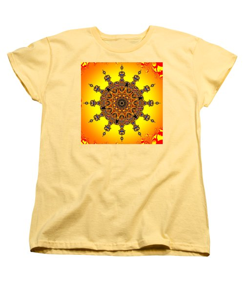 Women's T-Shirt (Standard Cut) featuring the digital art Energy Star by Robert Orinski