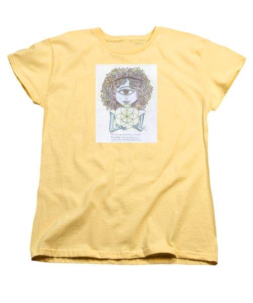 Women's T-Shirt (Standard Cut) featuring the drawing Enlightened Alien by Similar Alien