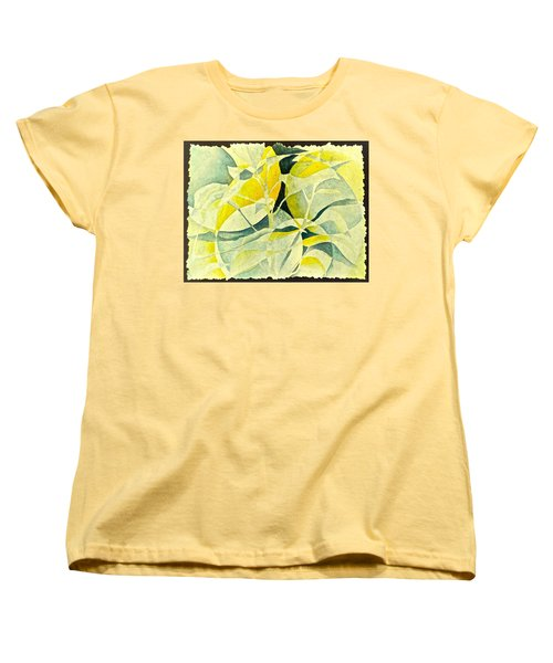 Women's T-Shirt (Standard Cut) featuring the painting Entering A New Realm by Carolyn Rosenberger