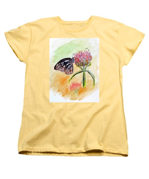Erika's Butterfly Two Women's T-Shirt (Standard Cut) by Clyde J Kell