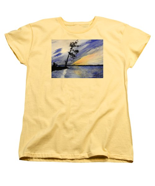 Evening At Petrie Island Women's T-Shirt (Standard Cut) by Betty-Anne McDonald