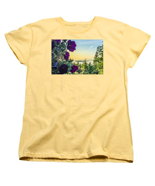 Women's T-Shirt (Standard Cut) featuring the photograph Evening Light On Orcas Island by William Wyckoff