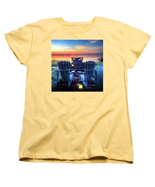 Women's T-Shirt (Standard Cut) featuring the photograph Evening Romance by Debra and Dave Vanderlaan