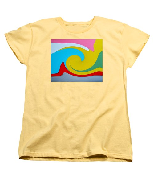 Women's T-Shirt (Standard Cut) featuring the digital art Everybody Has A Cousin In Miami Two by Dick Sauer