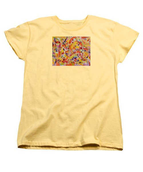 Women's T-Shirt (Standard Cut) featuring the painting Everywhere There Are Fish by Lyn Olsen