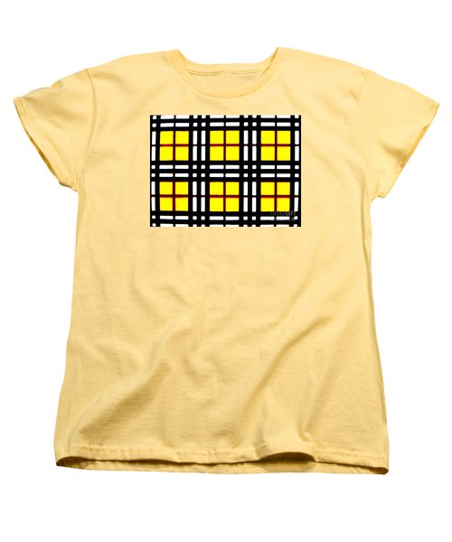 Expanding Plaid Women's T-Shirt (Standard Cut) by Tim Townsend