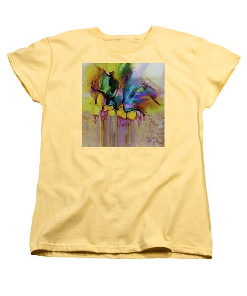 Explosion Of Petals Women's T-Shirt (Standard Cut) by Joanne Smoley