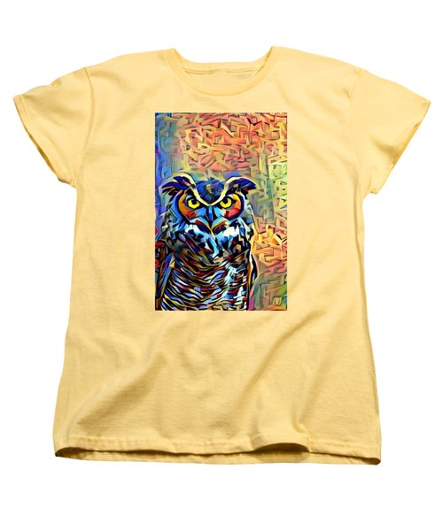 Women's T-Shirt (Standard Cut) featuring the photograph Eyes Of Wisdom by Geri Glavis
