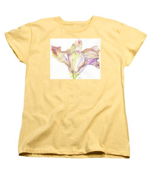 Faded Hibiscus Women's T-Shirt (Standard Cut) by Nadine Dennis