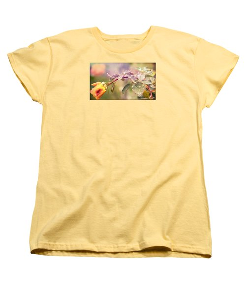 Women's T-Shirt (Standard Cut) featuring the photograph Fairy Drops by Cathy Donohoue