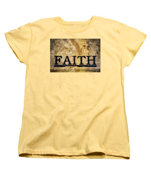 Faith Women's T-Shirt (Standard Cut) by Randy Steele