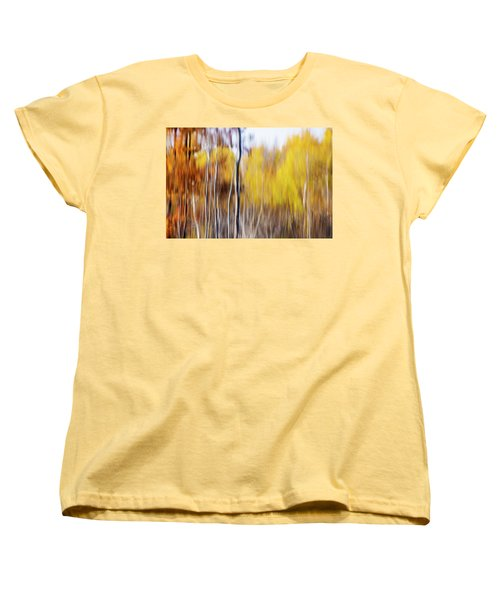 Women's T-Shirt (Standard Cut) featuring the photograph Fall Abstract by Mircea Costina Photography