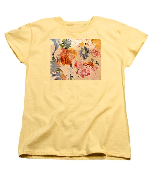 Fall Roses Women's T-Shirt (Standard Cut) by Nancy Kane Chapman