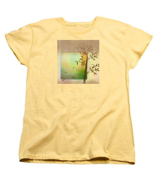 Women's T-Shirt (Standard Cut) featuring the digital art Falling Leaves by Nina Bradica