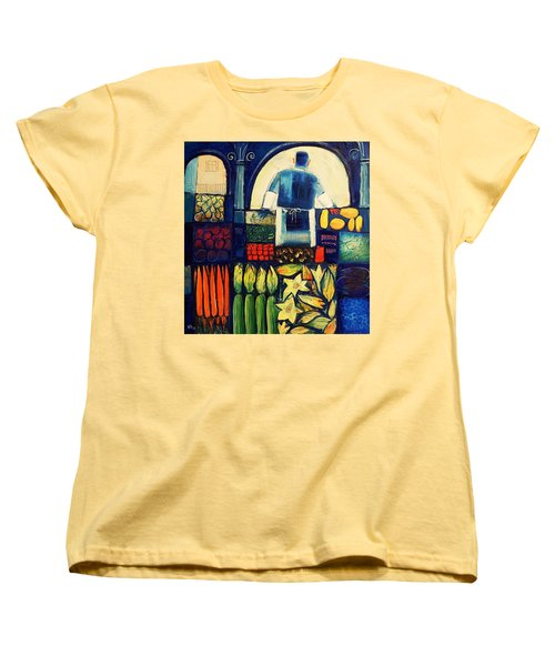 Farm Market   Women's T-Shirt (Standard Cut) by Mikhail Zarovny