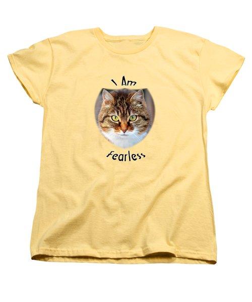 Fearless Women's T-Shirt (Standard Cut) by Judi Saunders
