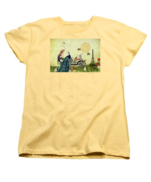 Feathered Friends In Paris, France Women's T-Shirt (Standard Cut) by Peggy Collins
