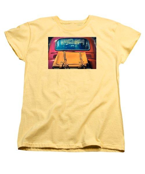 Fiat 500 Women's T-Shirt (Standard Cut) by Cesare Bargiggia