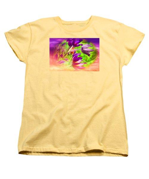 Women's T-Shirt (Standard Cut) featuring the digital art Fighting Circumstances by Cathy  Beharriell