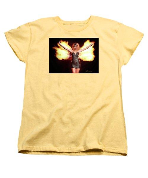 Fire Wings Women's T-Shirt (Standard Cut) by Andrew Nourse
