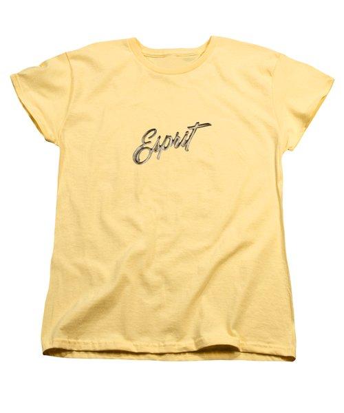 Firebird Esprit Chrome Emblem Women's T-Shirt (Standard Cut) by YoPedro