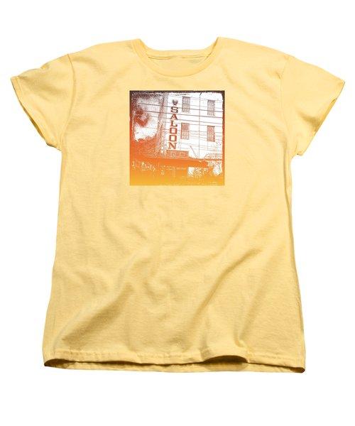 Women's T-Shirt (Standard Cut) featuring the photograph First Bar In Texas For A Woman by Carolina Liechtenstein
