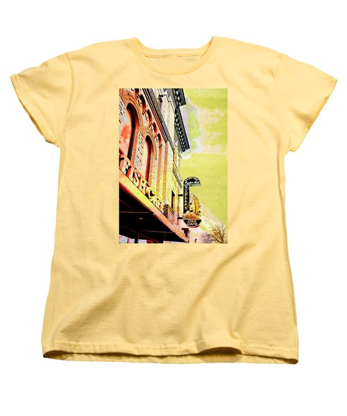 Women's T-Shirt (Standard Cut) featuring the digital art Fish Cafe by Susan Stone
