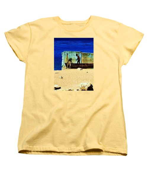 Women's T-Shirt (Standard Cut) featuring the photograph Fishing by Vanessa Palomino