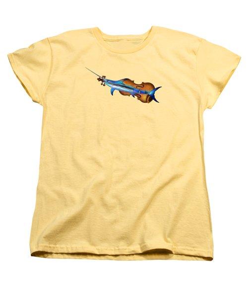 Fisholin V1 - Instrumental Fish Women's T-Shirt (Standard Cut)