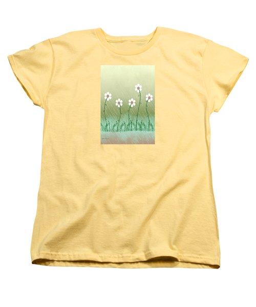 Five Days Of Daisies Women's T-Shirt (Standard Cut) by Rosalie Scanlon