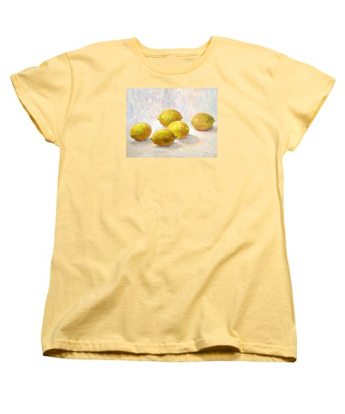 Five Lemons Women's T-Shirt (Standard Cut) by Jill Musser