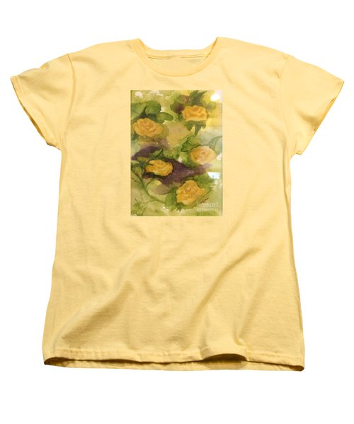 Five Yellow Roses Women's T-Shirt (Standard Cut) by Lucia Grilletto