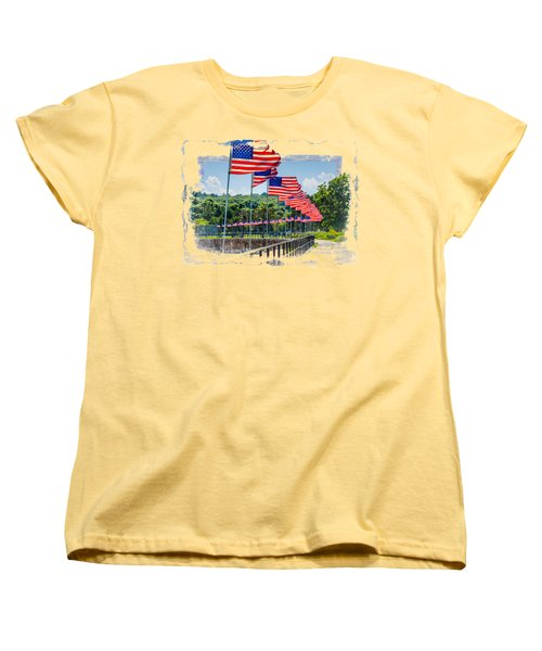 Flag Walk Women's T-Shirt (Standard Cut) by John M Bailey