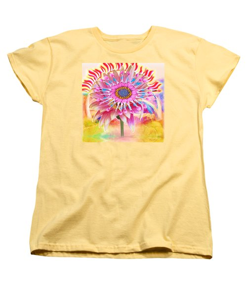 Flaming Sunrise Women's T-Shirt (Standard Cut) by Belinda Threeths