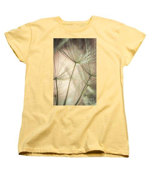Flamingo Dandelions Women's T-Shirt (Standard Cut) by Iris Greenwell