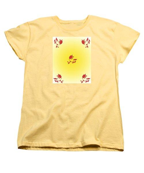 Floral Simplicity Women's T-Shirt (Standard Cut) by Karen Nicholson