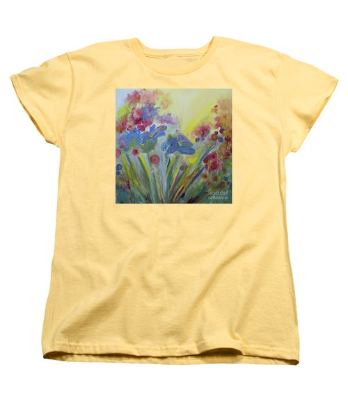 Women's T-Shirt (Standard Cut) featuring the painting Floral Splendor by Stacey Zimmerman