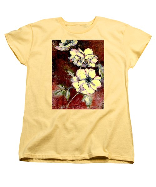 Floral Watercolor Painting Women's T-Shirt (Standard Cut) by Merton Allen