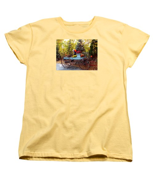 Flower Filled Wagon Women's T-Shirt (Standard Cut) by Catherine Gagne