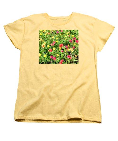 Flower Garden Women's T-Shirt (Standard Cut) by Karen Nicholson