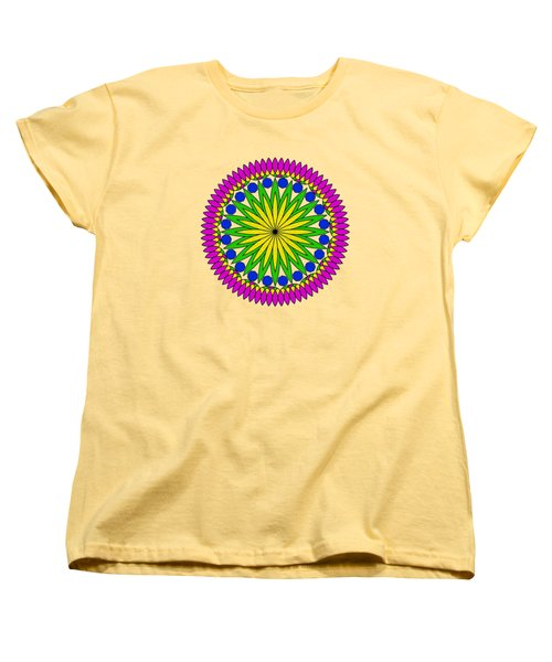 Flower Mandala By Kaye Menner Women's T-Shirt (Standard Cut) by Kaye Menner