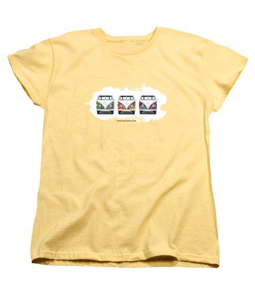 Flower Power Vw Women's T-Shirt (Standard Cut) by Mark Rogan