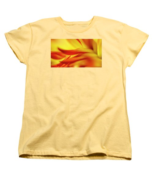 Flowing Floral Fire Women's T-Shirt (Standard Cut) by Tony Locke