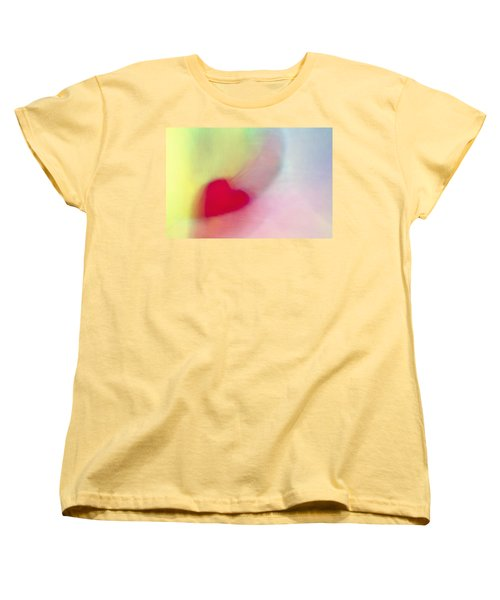 Flying Red Heart Women's T-Shirt (Standard Cut) by Susan Stone
