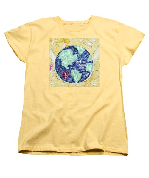 For He So Loved The World Women's T-Shirt (Standard Cut) by Kirsten Reed