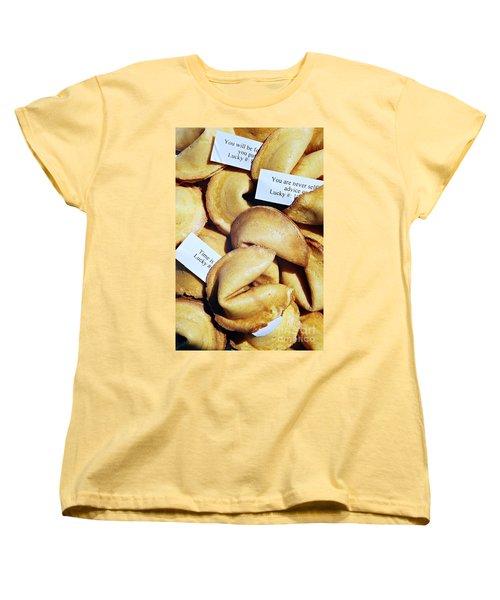 Women's T-Shirt (Standard Cut) featuring the photograph Fortune Cookie by Vivian Krug Cotton