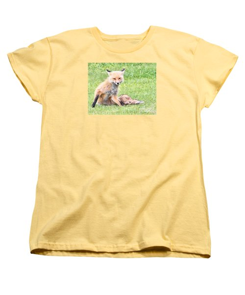 Women's T-Shirt (Standard Cut) featuring the photograph Foxy by Debbie Stahre