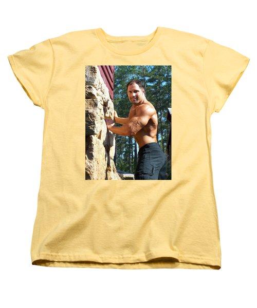 Women's T-Shirt (Standard Cut) featuring the photograph Franco Corelli Aka Dominic Dagostino by Jake Hartz