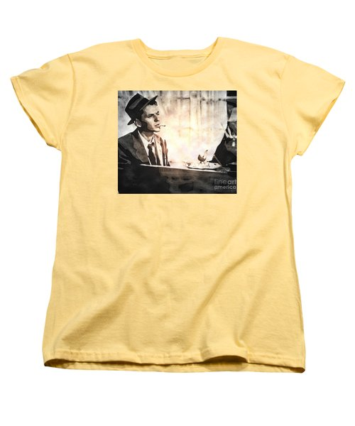 Frank Sinatra - Vintage Painting Women's T-Shirt (Standard Cut) by Ian Gledhill