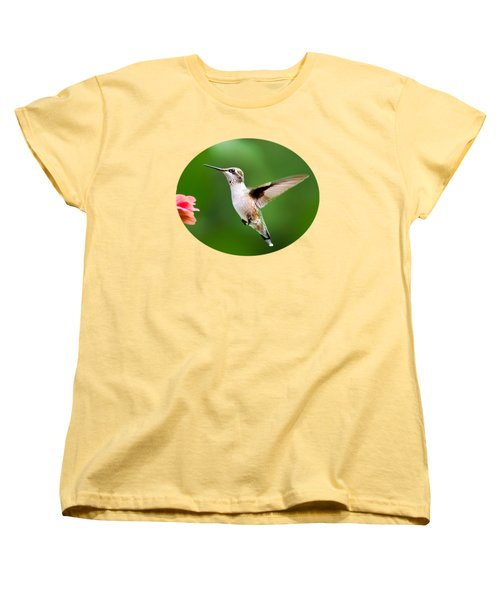 Free As A Bird Hummingbird Women's T-Shirt (Standard Cut) by Christina Rollo